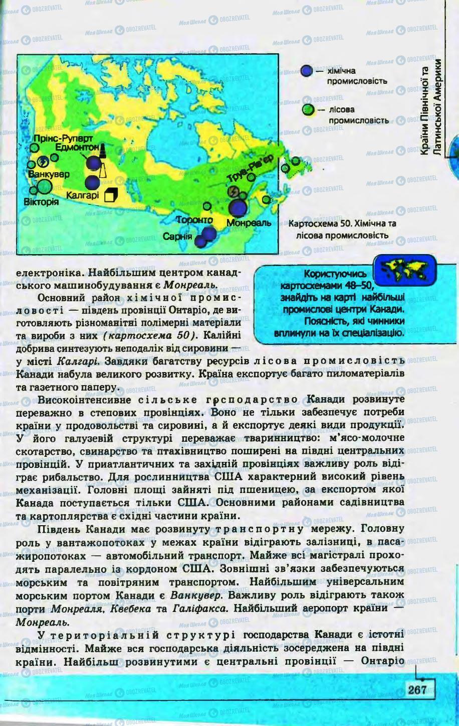 Підручники Географія 10 клас сторінка 267