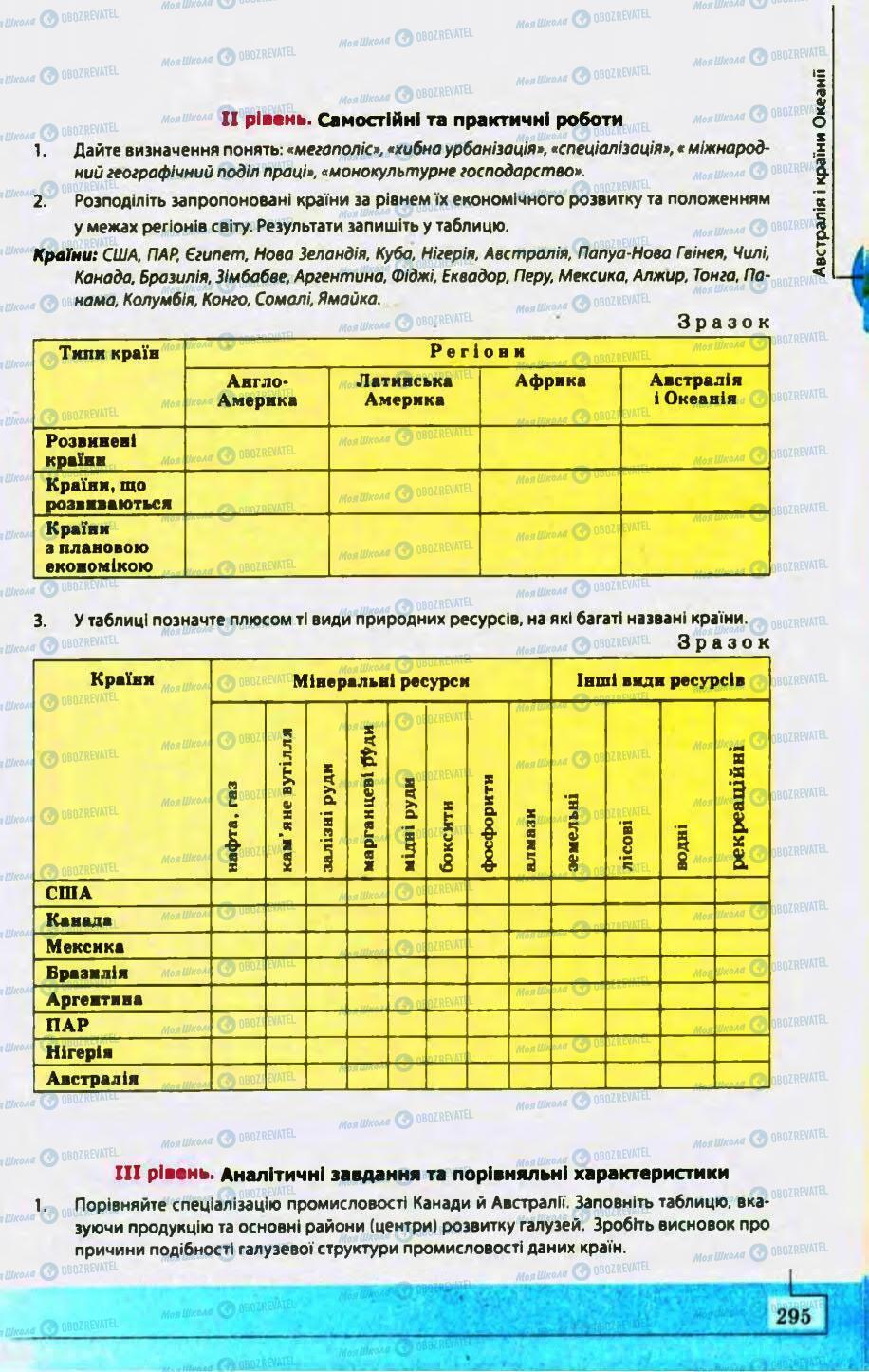 Учебники География 10 класс страница 295