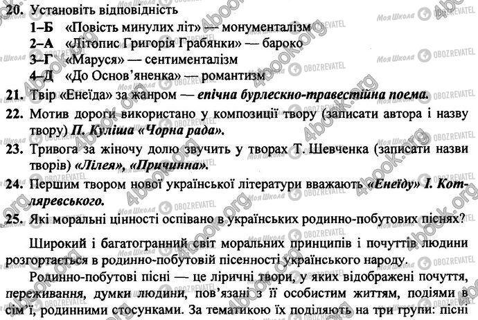 ДПА Українська література 9 клас сторінка Варіант 2