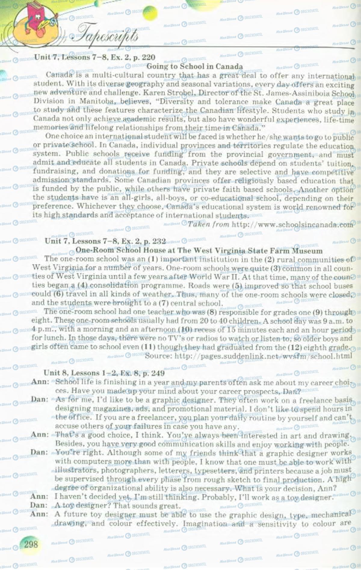 Учебники Английский язык 10 класс страница 298