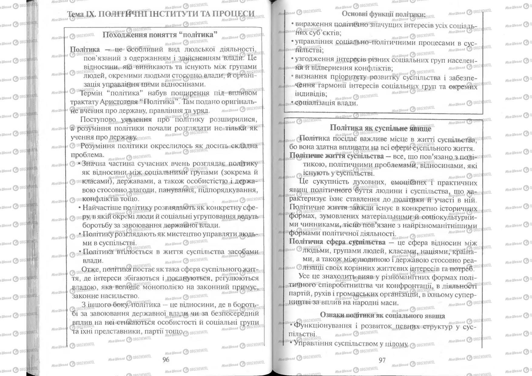 Підручники Людина і світ 11 клас сторінка 96-97