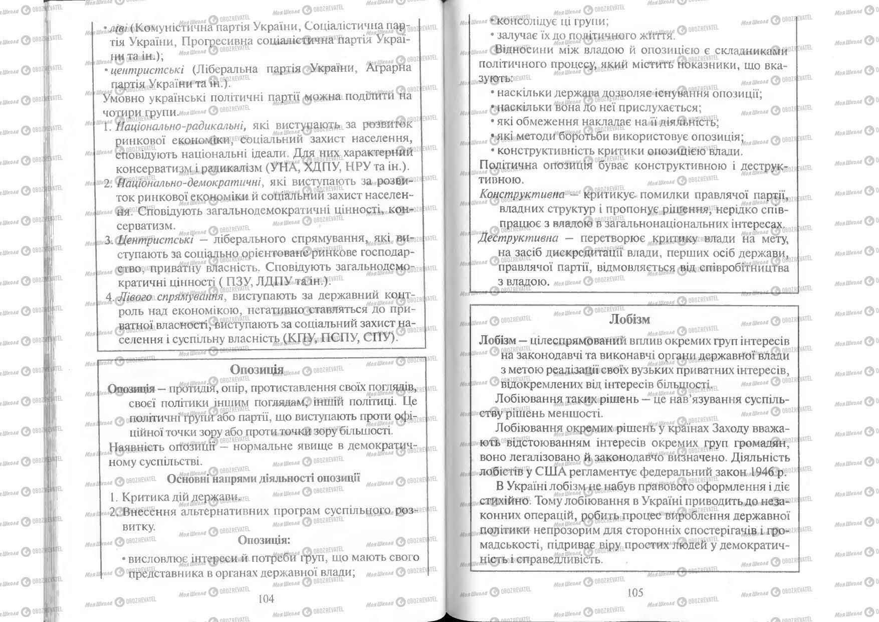Підручники Людина і світ 11 клас сторінка 104-105