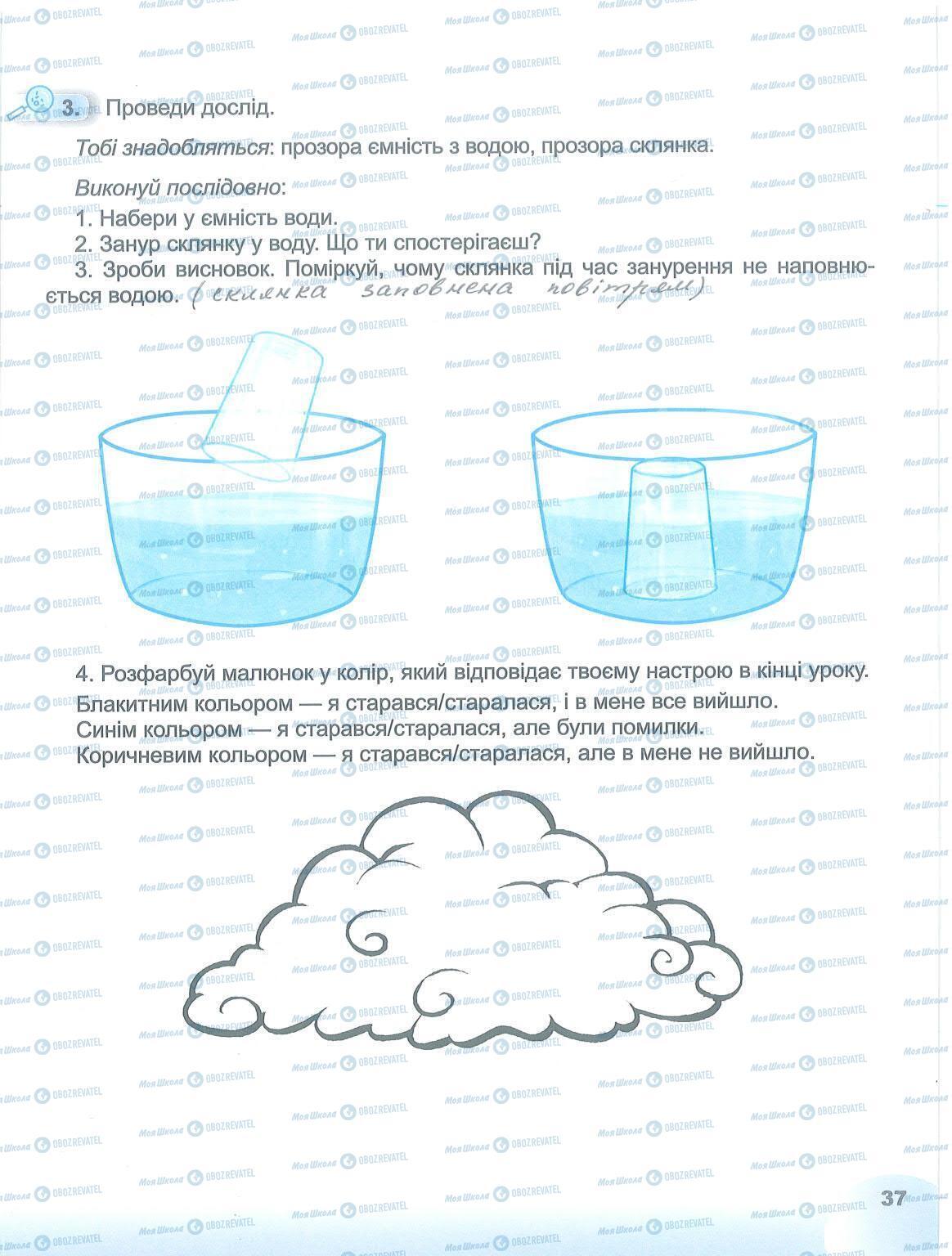 ГДЗ Я досліджую світ 1 клас сторінка 37