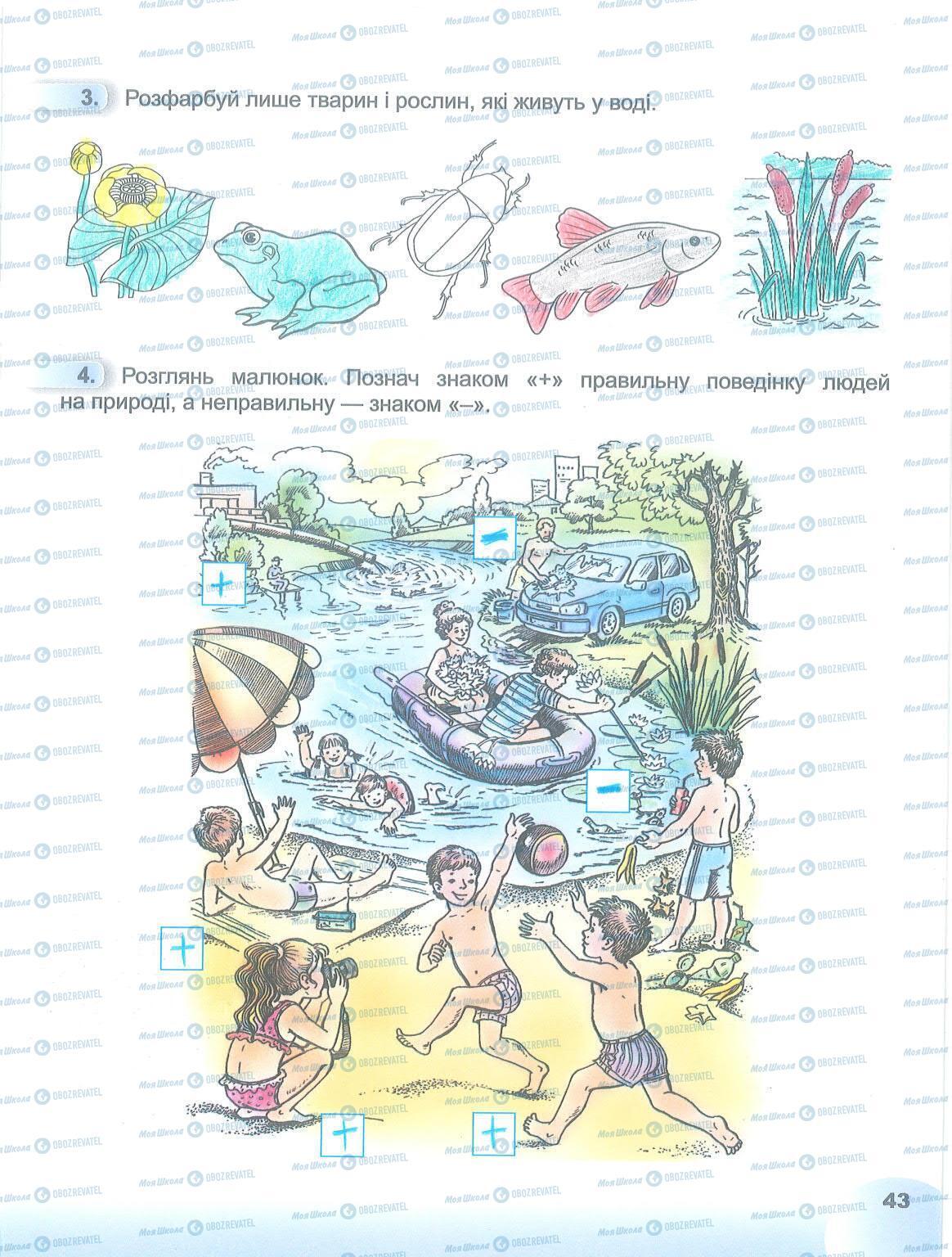 ГДЗ Я досліджую світ 1 клас сторінка 43