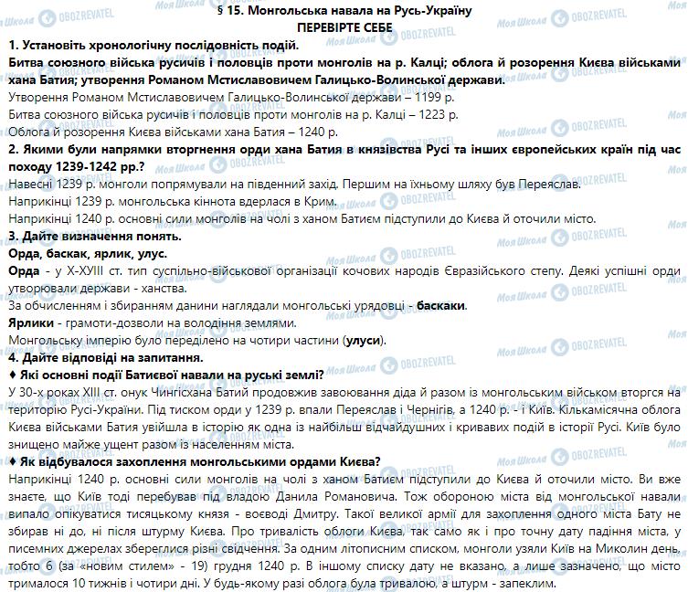 ГДЗ История Украины 7 класс страница 15