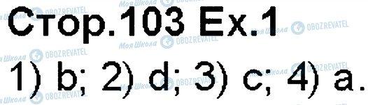 ГДЗ Англійська мова 5 клас сторінка p103ex1