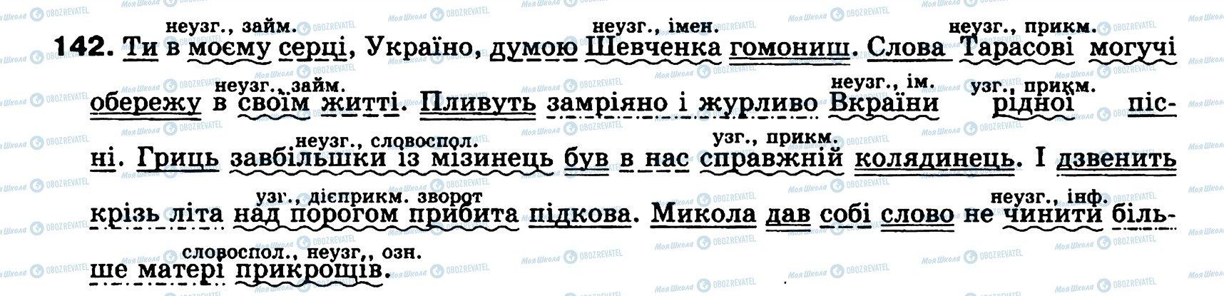 ГДЗ Українська мова 8 клас сторінка 142