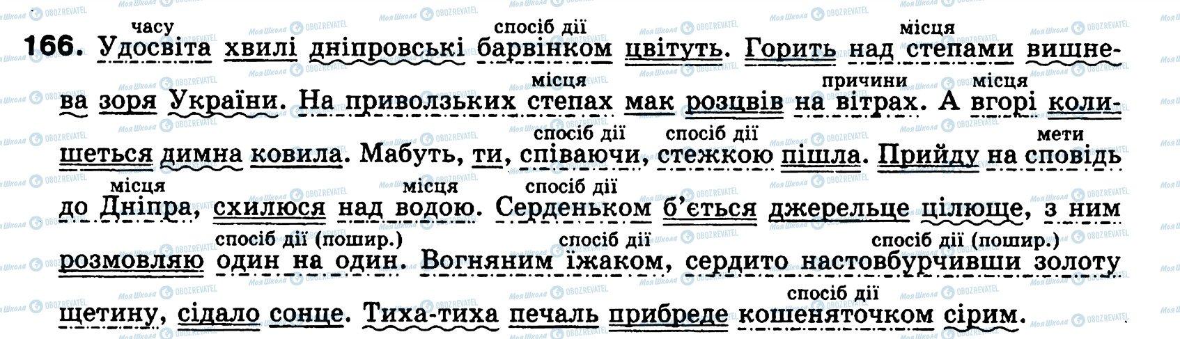ГДЗ Українська мова 8 клас сторінка 166