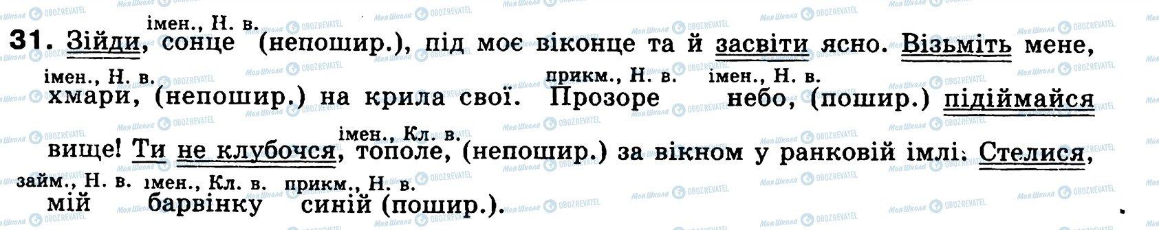 ГДЗ Українська мова 8 клас сторінка 31