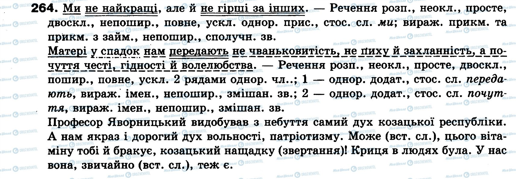 ГДЗ Укр мова 8 класс страница 264