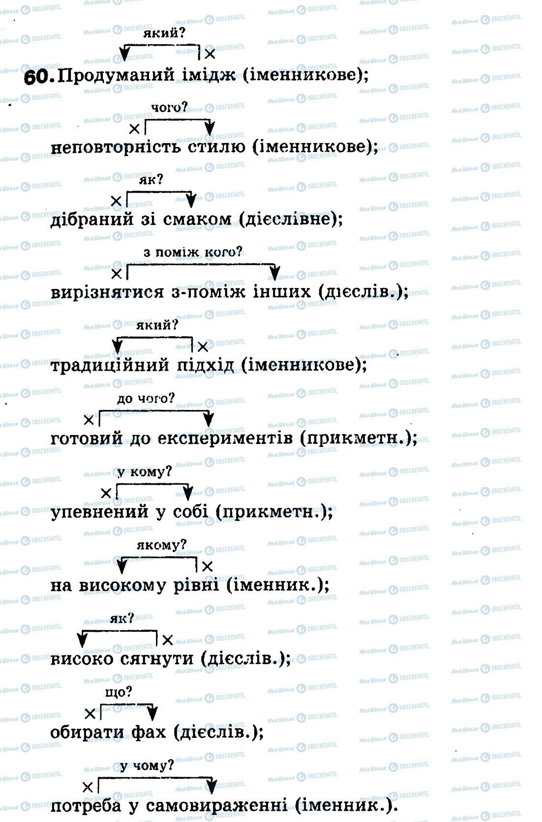 ГДЗ Українська мова 8 клас сторінка 60
