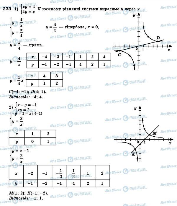 ГДЗ Алгебра 8 клас сторінка 333