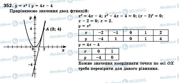 ГДЗ Алгебра 8 клас сторінка 352