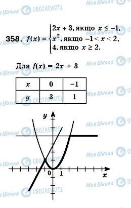 ГДЗ Алгебра 8 клас сторінка 358