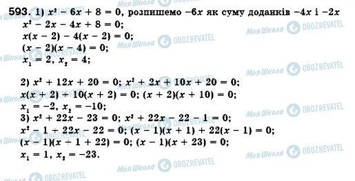 ГДЗ Алгебра 8 клас сторінка 593