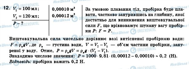 ГДЗ Физика 8 класс страница 12