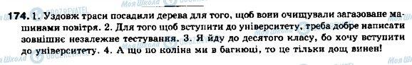 ГДЗ Українська мова 9 клас сторінка 174