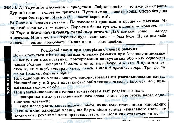 ГДЗ Українська мова 9 клас сторінка 264