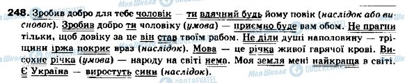 ГДЗ Українська мова 9 клас сторінка 248