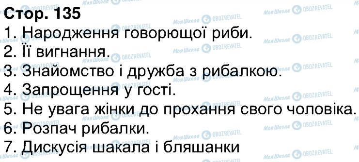 ГДЗ Українська література 6 клас сторінка 135