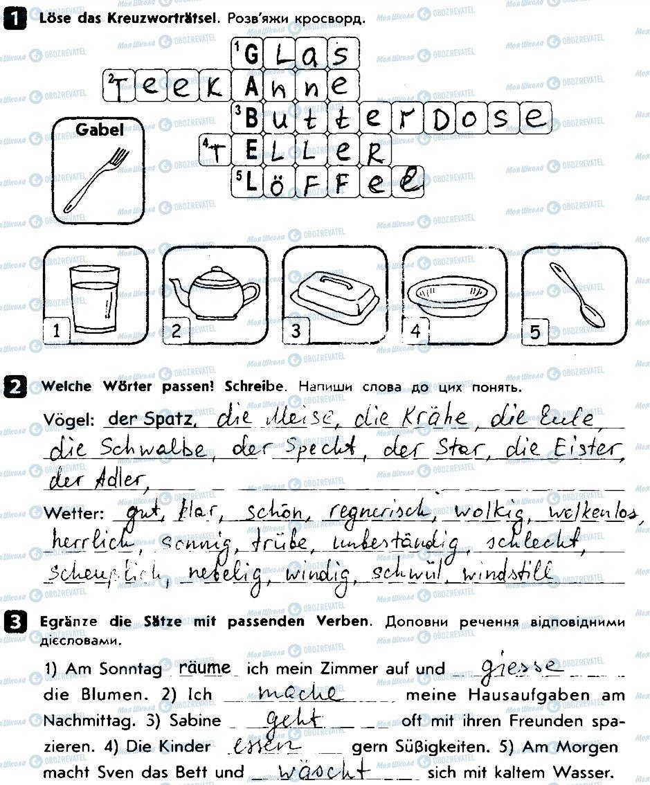 ГДЗ Німецька мова 6 клас сторінка V2