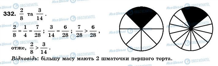ГДЗ Математика 6 класс страница 332