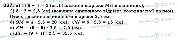 ГДЗ Математика 6 клас сторінка 887