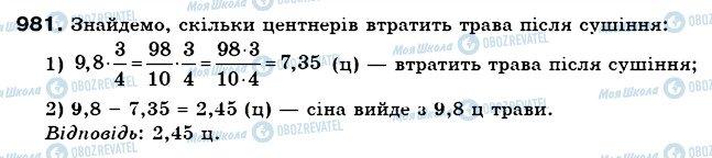 ГДЗ Математика 6 клас сторінка 981