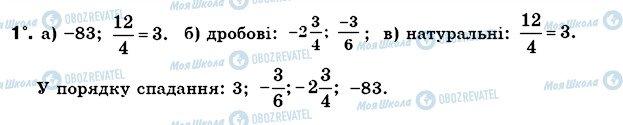 ГДЗ Математика 6 класс страница 1