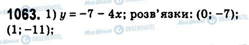 ГДЗ Алгебра 7 класс страница 1063