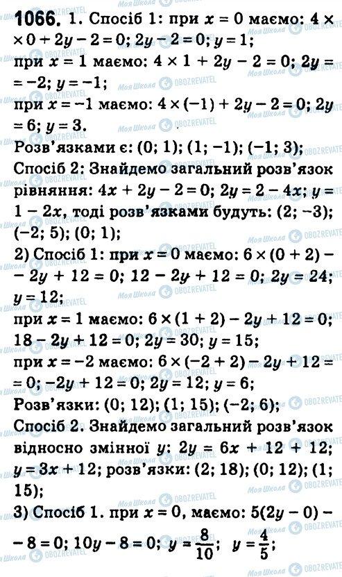 ГДЗ Алгебра 7 класс страница 1066