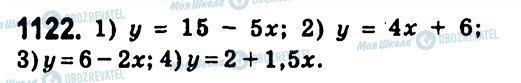 ГДЗ Алгебра 7 класс страница 1122