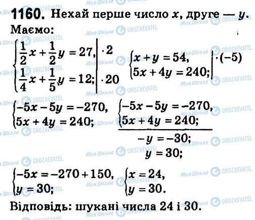 ГДЗ Алгебра 7 класс страница 1160