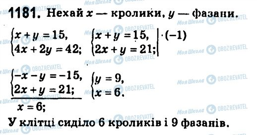 ГДЗ Алгебра 7 класс страница 1181