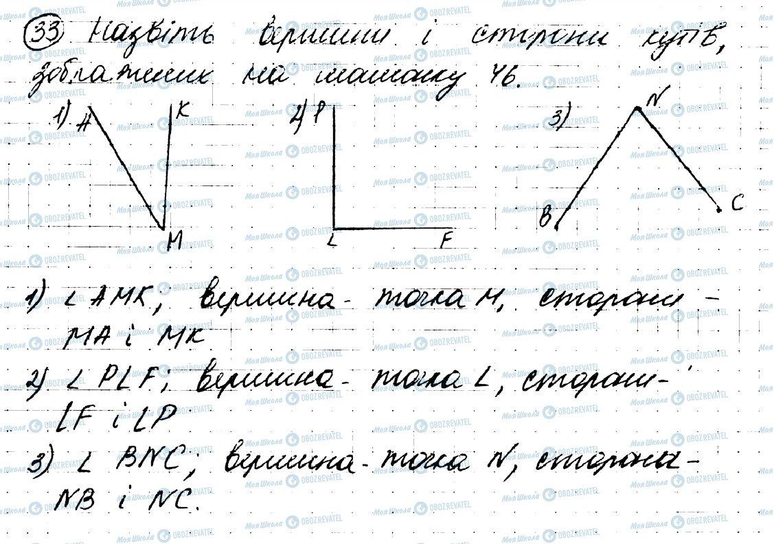 ГДЗ Геометрія 7 клас сторінка 33