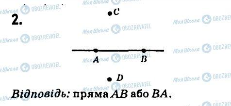 ГДЗ Геометрія 7 клас сторінка 2