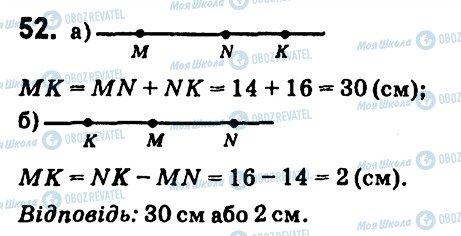 ГДЗ Геометрія 7 клас сторінка 52