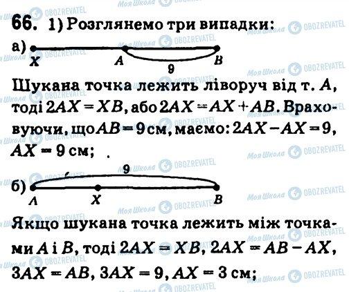 ГДЗ Геометрія 7 клас сторінка 66