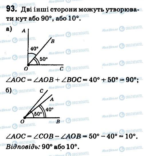 ГДЗ Геометрія 7 клас сторінка 93