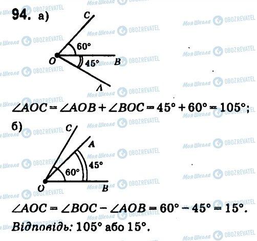 ГДЗ Геометрія 7 клас сторінка 94