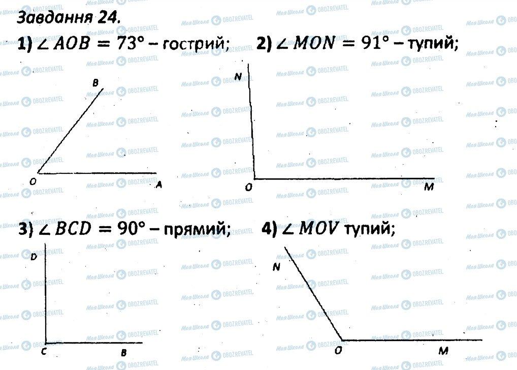 ГДЗ Геометрія 7 клас сторінка 24