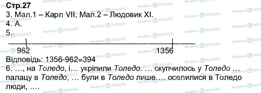 ГДЗ Всесвітня історія 7 клас сторінка 27