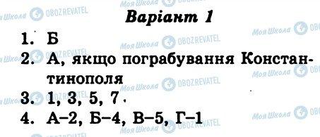 ГДЗ Всесвітня історія 7 клас сторінка СР1