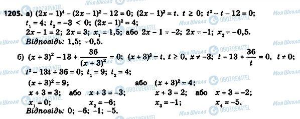 ГДЗ Алгебра 8 клас сторінка 1205