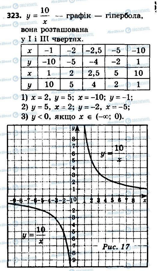 ГДЗ Алгебра 8 клас сторінка 323