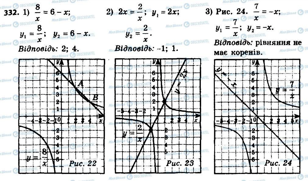 ГДЗ Алгебра 8 класс страница 332