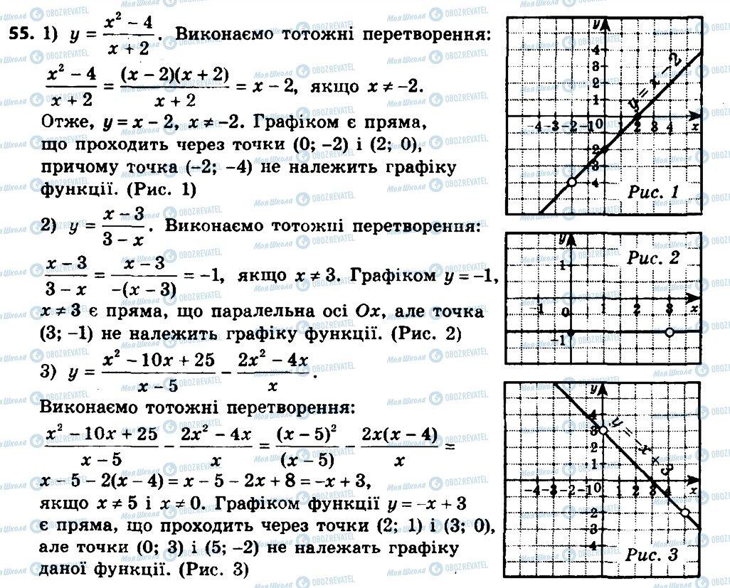 ГДЗ Алгебра 8 класс страница 55