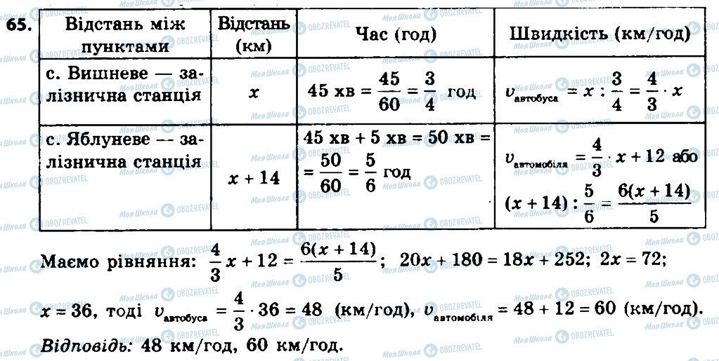 ГДЗ Алгебра 8 класс страница 65