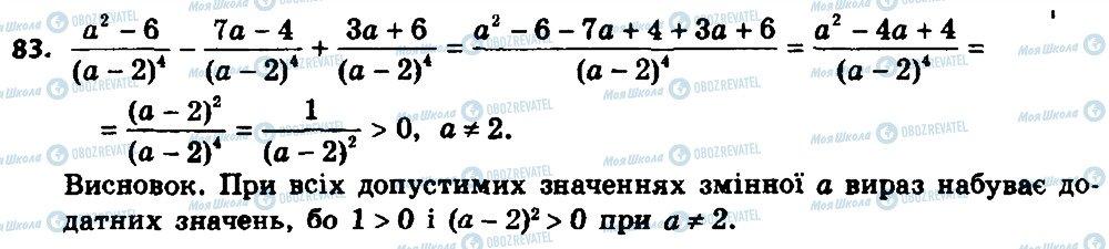 ГДЗ Алгебра 8 клас сторінка 83