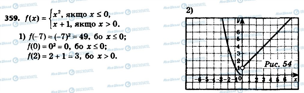 ГДЗ Алгебра 8 клас сторінка 359